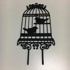 3D printer models Bird Cage Cake Topper, 3dcookiecutterscom