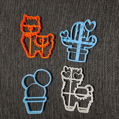 chrome_2020-08-27_16-16-45.png Download STL file Llamas and Cactus Cookie Cutter • 3D printer model, 3dcookiecutterscom