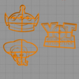 Diseños 3D Toy Story - Pack x 7 cookie cutter, 3dcookiecutterscom
