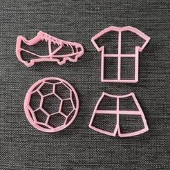 Download 3D printer designs Soccer Pack Cookie Cutter, 3dcookiecutterscom