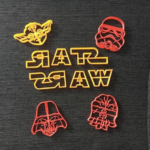 Télécharger fichier imprimante 3D Starwars Pack x 7 emporte-pièces pour biscuits, 3dcookiecutterscom