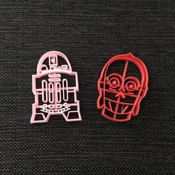 Descargar modelo 3D Starwars C-3PO & R2D2 Cookie Cutter, 3dcookiecutterscom