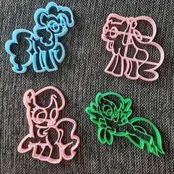 Download 3D printer designs Pony x 4 Cookie Cutter, 3dcookiecutterscom