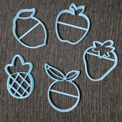 chrome_2020-08-26_21-53-34.png Télécharger fichier STL Fruits Pomme Orange Ananas Citron Fraise Biscuit Coupe • Modèle pour imprimante 3D, 3dcookiecutterscom