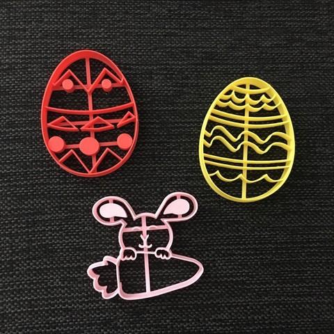 3D printer models Eggs and Rabbit - Easter Cookie Cutter, 3dcookiecutterscom