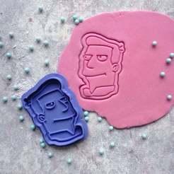 Download STL files Futurama | Zapp Brannigan cookie cutter, roxengames