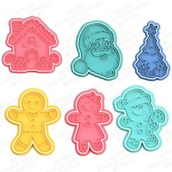 1.jpg Download STL file Christmas cookie cutter set of 6 • 3D printable object, roxengames