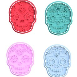 Screenshot_2.jpg Download STL file Day of the Dead cookie cutter set of 4 • 3D printer object, roxengames