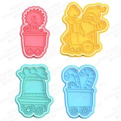 1.jpg Download STL file Christmas cookie cutter set of 4 • 3D printer object, roxengames