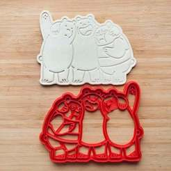 Download STL files We Bare Bears cookie cutters set of 5, roxengames
