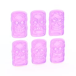 Descargar archivos 3D Juego de 6 cortadores de galletas Totems, roxengames