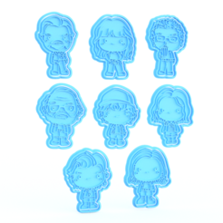 Download 3D printing templates Stranger Things TV series cookie cutter set of 8, roxengames