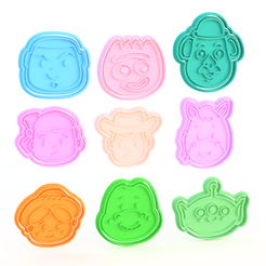 Screenshot_1.png Download STL file Toy story cookie cutter set of 9 • Model to 3D print, roxengames