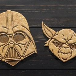 Download 3D printing designs Star wars cookie cutter set of 2, roxengames