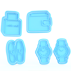 Download STL files Luxury cookie cutter set of 4, roxengames