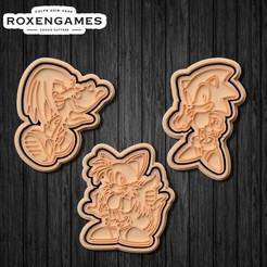 unnamed10.jpg Download STL file Sonic the Hedgehog cookie cutter set of 3 • 3D printer model, roxengames
