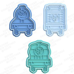 1.jpg Download STL file Thomas the tank engine cookie cutter set of 3 • 3D print template, roxengames