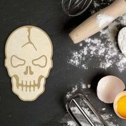 Download 3D printer designs Halloween Skull Cookie Cutter, roxengames