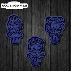 Download 3D printing designs LOL Surprise dolls cookie cutter set of 3, roxengames