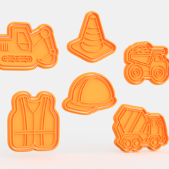 Screenshot_2.png Download STL file Construction / building cookie cutter set of 6 • Model to 3D print, roxengames