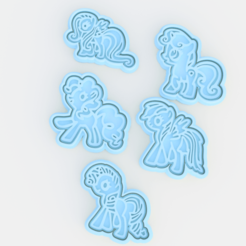 Download STL My Little Pony cookie cutter set of 5, roxengames