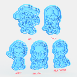 Download 3D printing templates The Walking Dead TV series cookie cutter set of 10, roxengames