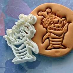 Descargar archivos STL Cortador de galletas Boo In Costume | Monsters Inc, roxengames