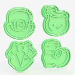 Download 3D printer templates St.Patrick 's Day cookie cutter set of 8, roxengames