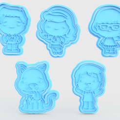 Download STL file Scooby doo cookie cutter set of 5 • 3D printing template, roxengames