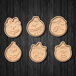 unnamed2.jpg Download STL file Cute Christmas cookie cutters Set of 6 • Template to 3D print, roxengames