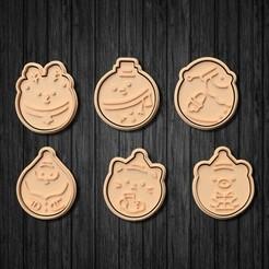 Télécharger objet 3D Mignons emporte-pièces pour biscuits de Noël Lot de 6, roxengames