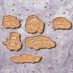 Download 3D printing designs Cars cookie cutter set of 6, roxengames