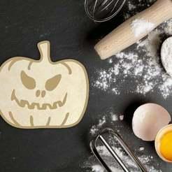 Descargar diseños 3D Cortador de galletas de calabaza para Halloween, roxengames