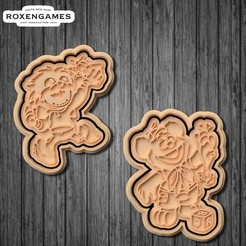 Download 3D printing designs Muppet Babies cookie cutter set of 4, roxengames