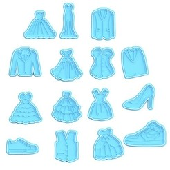 Screenshot_1.jpg Download STL file Clothes cookie cutter set of 15 • 3D printer design, roxengames