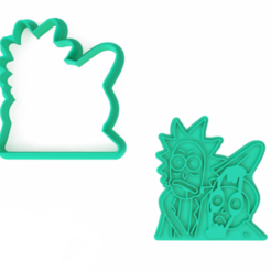 Screenshot_1.png Download STL file Rick and Morty Scary Cookie Cutter - Rick and Morty • 3D printable object, roxengames