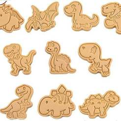 Download STL file Dinosaur Cookie Cutters set of 10 • 3D printing design, roxengames