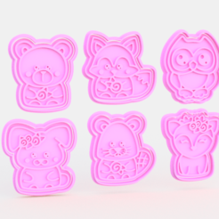 Screenshot_3.png Download STL file Animal cookie cutter set of 6 • 3D print template, roxengames
