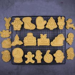 Download 3D printing designs Christmas Characters Cookie Cutter Set of 21, roxengames