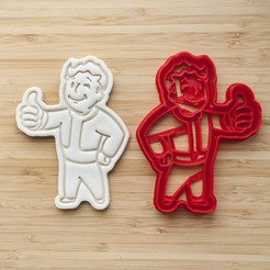 3D print files Fallout Vault Boy Cookie Cutter, roxengames