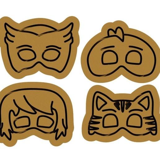 Download 3D printer designs PJ Masks hero cookie cutter set of 4, roxengames