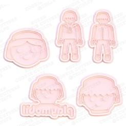 1.jpg Télécharger fichier STL Ensemble de 5 moules à biscuits Playmobil • Modèle pour impression 3D, roxengames