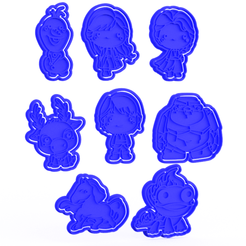 Download 3D printing files Frozen cookie cutter set of 8, roxengames