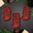 Download STL Christmas dogs cookie cutter set of 6, roxengames