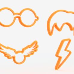 Télécharger fichier 3D Ensemble de 4 moules à biscuits Harry Potter, roxengames