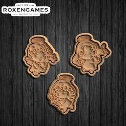 Télécharger fichier 3D Cute Angels Cookie Cutter Set de 3 biscuits, roxengames