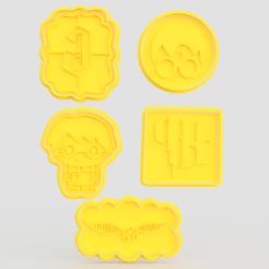 Télécharger modèle 3D Ensemble de 5 moules à biscuits Harry Potter, roxengames