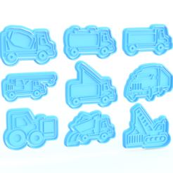 Download STL files Transport Cookie Cutters set of 9, roxengames
