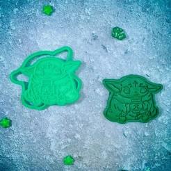Télécharger fichier 3D Bébé Yoda Mandalorienne avec un emporte-pièce pour le café, roxengames