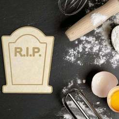 Download 3D print files Halloween RIP Tombstone Cookie Cutter, roxengames